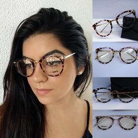 Armacao Masculina Oval Antiga - Óculos Marrom no Mercado Livre Brasil b7846df6a9