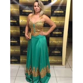Vestido De Festa Luxo Longo Estampado Casamento-frete-grátis