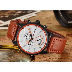 671c41cda71 Relógio Masculino Analógico Pulseira Couro Marrom - Relógios De ...