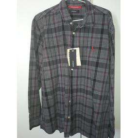 Camisa Xadrez Lacoste Manga Longa Tamanho 43 · Camisa Reserva Xadrez - Nova 54696b6439