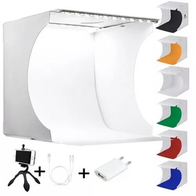 Photo Box Estúdio C/ Luz 40 Leds Mini Studio Para Joalheria