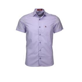 Camisa Amil Logan Tecido Liso Algodão Com Bolso Lançamento