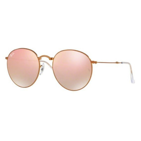 0d93535c999bb Oculos Sol Ray Ban Round Dobravel Rb3532 198 7y 53 Rosa Espe