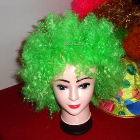 Peluca Afro Fiesta Batucada Rave Antro Disfraz Payaso Cospla