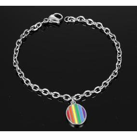Bracalete Gay Pride Acero Inoxidable Arcoiris