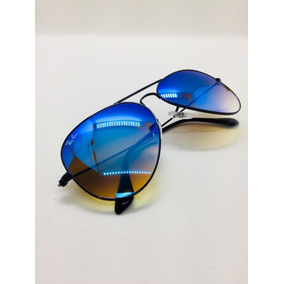 144f11899f9f1 Ray Ban Aviador Azul Degrade Escuro De Sol - Óculos no Mercado Livre ...