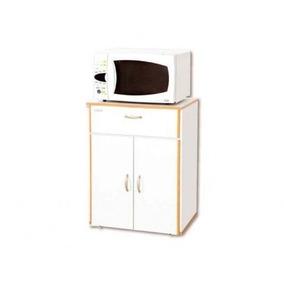 Mueble Para Microondas Platinum 30450 Blanco/roble