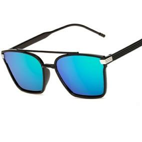 db7e10549e7ce Oculos De Sol Unissex Modelo Lente Arco-íris Quadrada