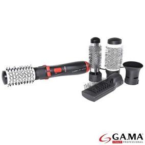 Escova Modeladora Gama Turbo Ion 3000 Nano Preta Adm210 110v