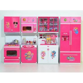 Kit Cozinha Infantil Com Luz E Som - 4em1 Rosa Linda