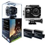 Hls Action Cam 16mp 4k Wifi Sports Camera Pantalla Lcd De