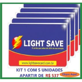Economizador De Energia Light Save Card Kit 1 Com 5 Unid