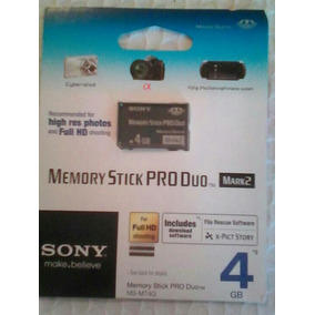 Memoria Memory Stick Pro Duo 4gb Sony