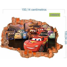 Adesivo Recortado Parede Quebrada Carros Mod. 01