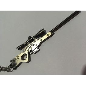 Chaveiro Fortnite Sniper Awp - Arma Rifle - Metal 11,5cm