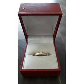 Anillo Solitario 14k Con Diamante Natural