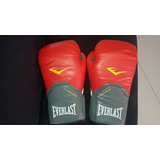 Luvas De Boxe Muay Thai Everlast - Vermelha - 12 Oz - Adulto