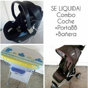 Combo Coche Tres Ruedas, Bañera Y Porta Bebé