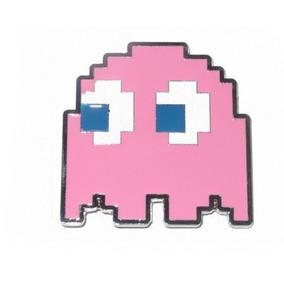 Hebilla Cinturon Pacman Fantasma Rosa
