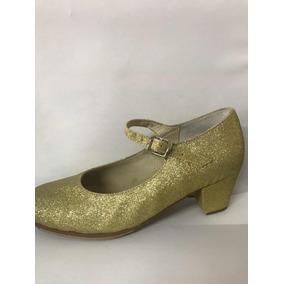 Calzado Gliter Oro