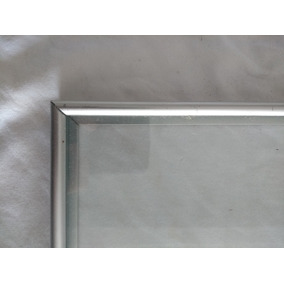 Quadro Moldura De Aluminio 2 Vidros - 25,5 X 22,2cm Usado