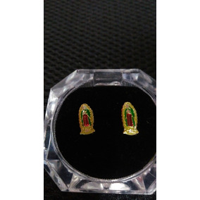 Broqueles Virgen De Guadalupe Oro Macizo 10k Envío Gratis