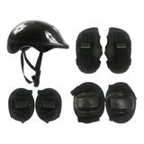 Kit Proteção Infantil Skate Patins Bike Patinete C/ Capacete