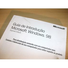Windows 98 Original + Guia De Introdução, Nunca Usado