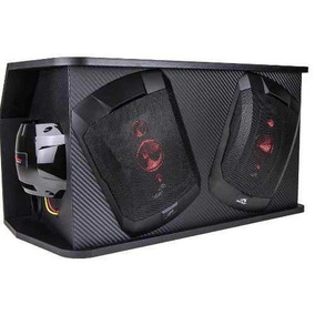 Caixa Automotiva Amplificada Hinor Box Trio 6x9 250w Rms Som