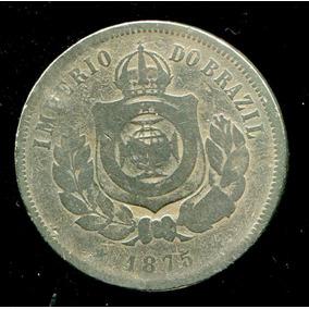 Moeda Do Império 200 Réis - Níquel - 1875 - Rara - Bc- L1336