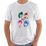 Camisa Banda Rock The Beatles Com Assinaturas