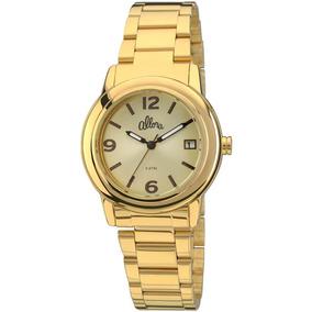 4x Coração Dourado Relogio Feminino Allora Al2035ap - Relógios De ... 1029aab44e