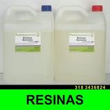 Resina Epoxica Flexible 2kg+2pigmentos - Gemelo Transparente