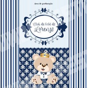 50 Sacolinha Surpresa Lembrancinha Ursinho Príncipe Urso