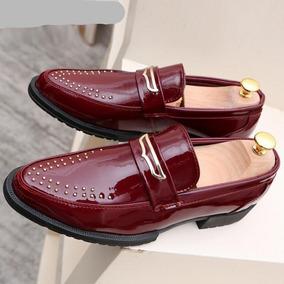 Negro De En Charol Hombre Zapatos Blanco Ropa Accesorios Y 8nwOvN0m