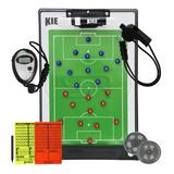 Prancheta Tática Magnética Futebol + Cartão + Cronometro...