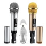 Micrófono Inalámbrico Excelvan K18u Oro + Plata