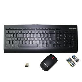 Teclado Mouse Sem Fio Lenovo Ultraslim Kbrf3971 C/pilhas