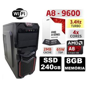 Pc Cpu Gamer Amd A8 9600 3.4ghz 8gb Ssd 240gb Radeon R7 Wifi