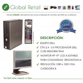 Computadora Dell Dual Core 80 Gb 2gb Ram Monitor Dell 18