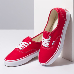 Tenis Vans Authentic Rojo 100% Originales