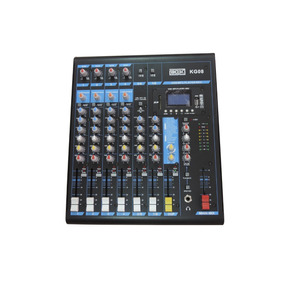 Mesa De Som Mixer Boxx Kg08 8 Canais C/ Efeitos E Mp3 Player