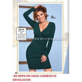 Vestido Cklass Verde 058-58.. Outlet/saldos Mchn