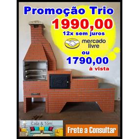 Promoção Trio Churrasqueira, Forno E Fogão, Montagem Grátis!