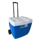 Cooler Caixa Termica 42 Litros Mor Com Rodinhas Azul