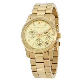 3bfdfb10d57ae Relógio De Pulso Michael Kors Runway Mk5055 Dourado - Relógios De ...