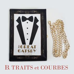 Bolsa Livro O Grande Gatsby Em Couro Legítimo Feita À Mão ccc8a5d0063