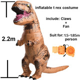 Disfraz Dinosaurio Inflable Jurrasic Park World Para Adulto
