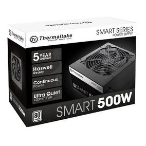 Fuente Pc Thermaltake 500w Reales Smart 80 Plus W