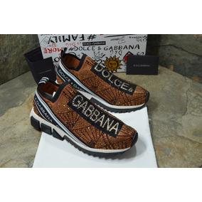 Tenis Sneaker Dolce Gabbana Sorrento Dorado Envio Gratis